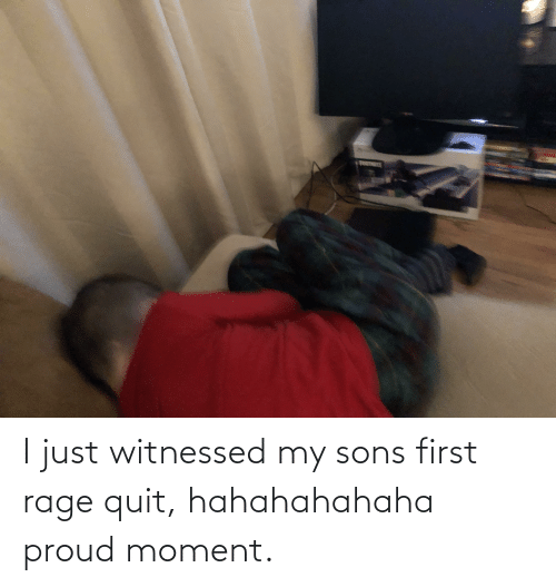 Rage quit: FRTNTE I just witnessed my sons first rage quit, hahahahahaha proud moment.
