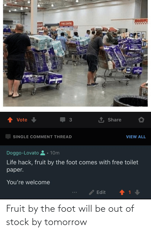 Out Of Stock: Fruit by the foot will be out of stock by tomorrow