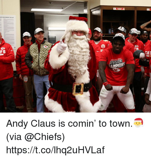 Memes, Vision, and Chiefs: FS 1  CH  1011 AEC WEST  VISION Andy Claus is comin' to town.🎅 (via @Chiefs) https://t.co/lhq2uHVLaf