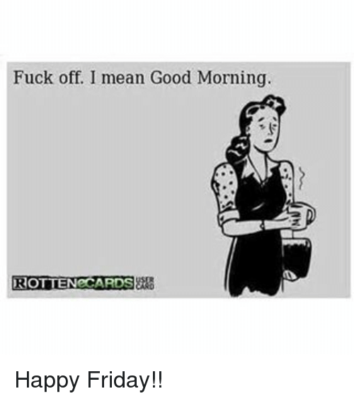 Friday morning fuck