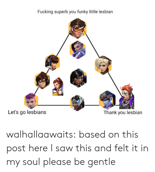Hank: Fucking superb you funky little lesbian  Let's go lesbians  hank you lesbian walhallaawaits:  based on this post hereI saw this and felt it in my soul please be gentle
