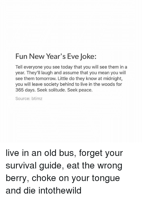 Fun New Year\'s Eve Joke Tell Everyone You See Today That You Will ...