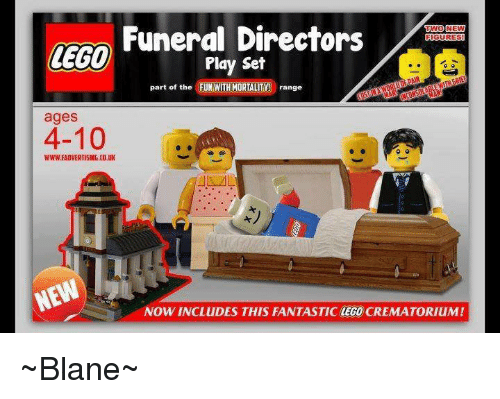 Funeral Directors TWO NEW GURES LEGO Play Set Part of the ...