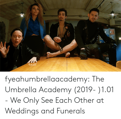 Weddings: fyeahumbrellaacademy:  The Umbrella Academy (2019- )1.01 - We Only See Each Other at Weddings and Funerals
