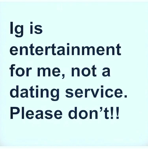 Not a dating service