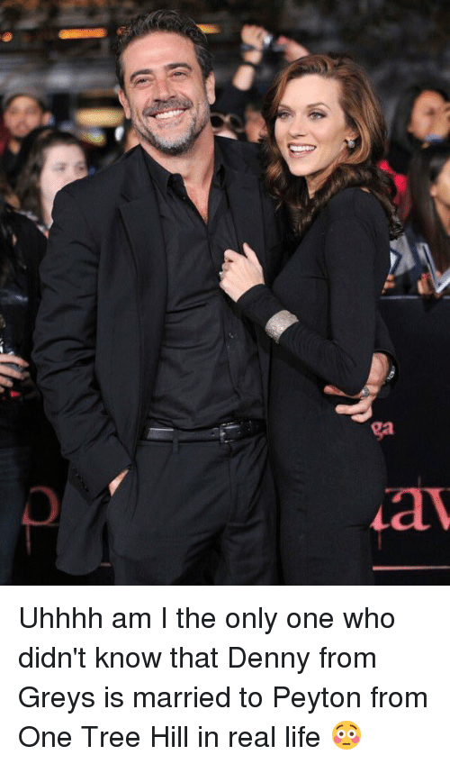 One Tree Hill: ga Uhhhh am I the only one who didn't know that Denny from Greys is married to Peyton from One Tree Hill in real life 😳