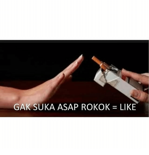 Indonesian (Language), Asap, and Gak: GAK SUKA ASAP ROKOK= LIKE