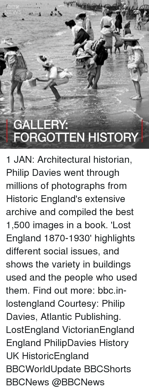 Atlante: GALLERY  FORGOTTEN HISTORY 1 JAN: Architectural historian, Philip Davies went through millions of photographs from Historic England's extensive archive and compiled the best 1,500 images in a book. 'Lost England 1870-1930' highlights different social issues, and shows the variety in buildings used and the people who used them. Find out more: bbc.in-lostengland Courtesy: Philip Davies, Atlantic Publishing. LostEngland VictorianEngland England PhilipDavies History UK HistoricEngland BBCWorldUpdate BBCShorts BBCNews @BBCNews
