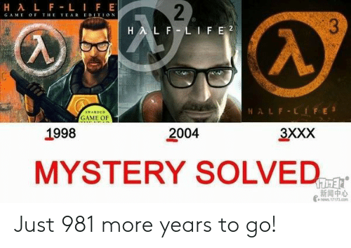 gam: GAM E OF THE YEAREDITION  LFEİ2  GAME OF  1998  2004  3XXX  MYSTERY SOLVED-r  新闻中心 Just 981 more years to go!