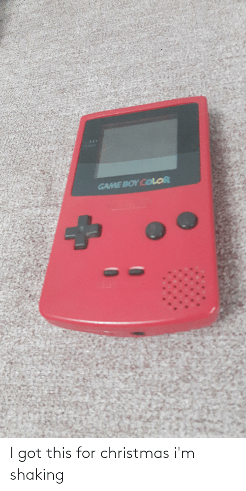 game boy color: GAME BOY COLOR I got this for christmas i'm shaking
