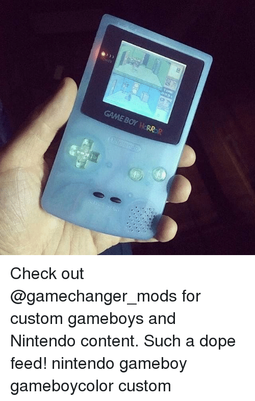gameboys: GAME BOY HORROR Check out @gamechanger_mods for custom gameboys and Nintendo content. Such a dope feed! nintendo gameboy gameboycolor custom