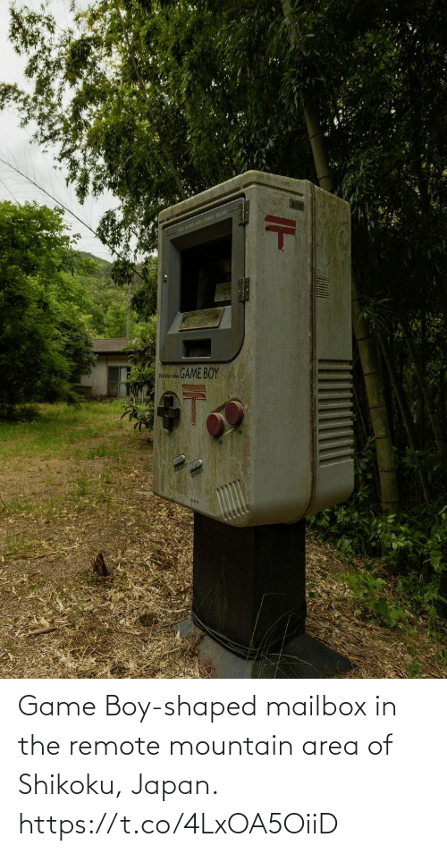 Area: Game Boy-shaped mailbox in the remote mountain area of Shikoku, Japan. https://t.co/4LxOA5OiiD