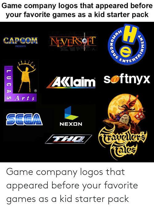 Logos: Game company logos that appeared before your favorite games as a kid starter pack