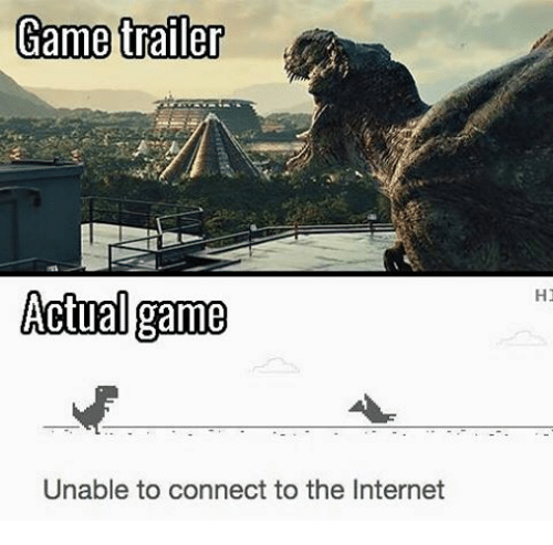 Internet, Memes, and Connected: Game trailer  Actual game  Unable to connect to the Internet