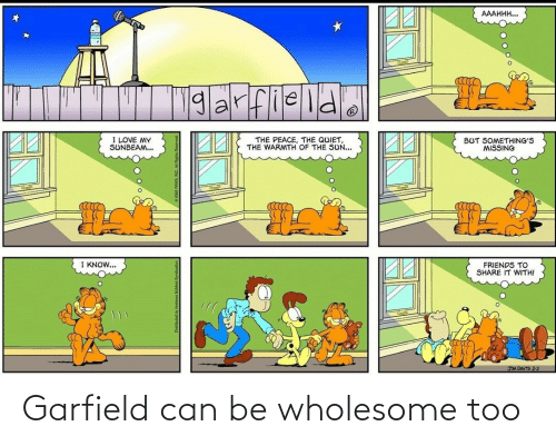 Garfield: Garfield can be wholesome too