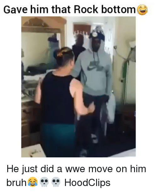 Bruh, Funny, and World Wrestling Entertainment: Gave him that Rock bottomee He just did a wwe move on him bruh😂💀💀 HoodClips