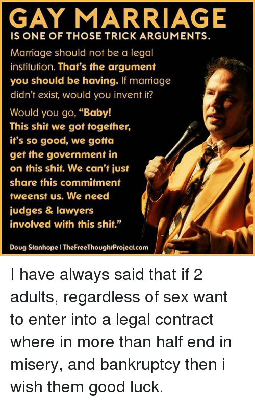 gay marriage should not be legal