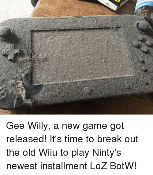 Video Games, Loz, and Play: Gee Willy, a new game got released! It's time to break out the old Wiiu to play Ninty's newest installment LoZ BotW!
