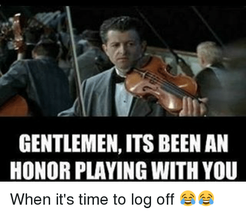 Titanic - Gentlemen, it has been a privilege playing with ...