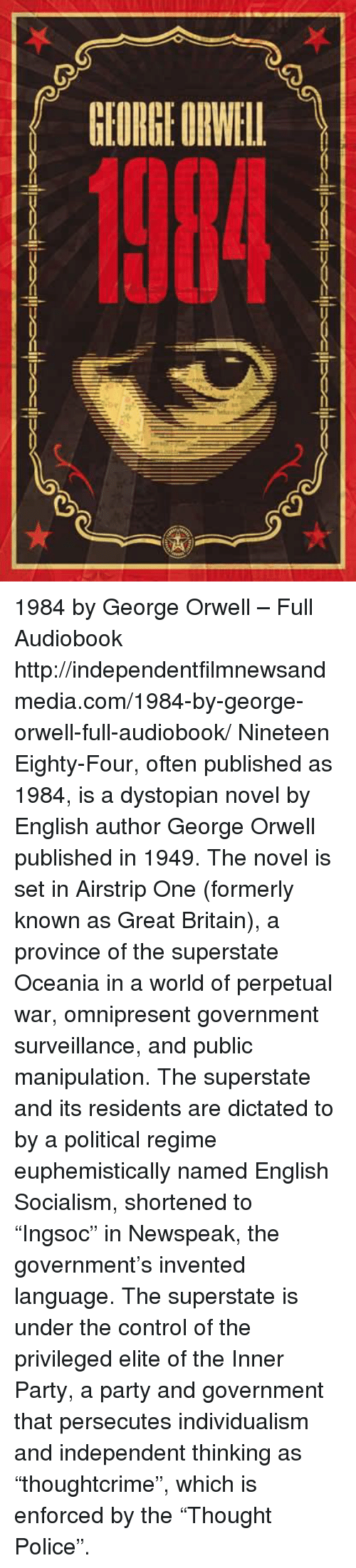 a biography of george orwell the english novelist