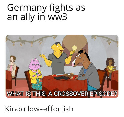 Ally: Germany fights as  an ally in ww3  WHAT IS THIS, A CROSSOVER EPISODE? Kinda low-effortish