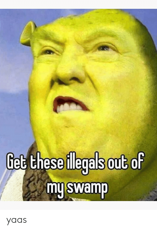Yaas: Get these ilegals out of  my swamp  10 yaas
