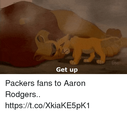 Aaron Rodgers, Football, and Nfl: Get up Packers fans to Aaron Rodgers.. https://t.co/XkiaKE5pK1