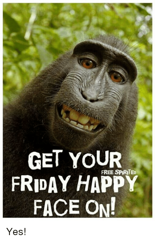 happy face: GET YOUR  FREE SPIRITED  FRIDAY HAPPY  FACE ON! Yes!