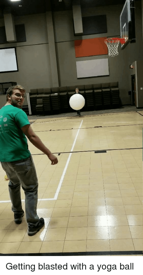 Yoga, Whitepeoplegifs, and Ball: Getting blasted with a yoga ball