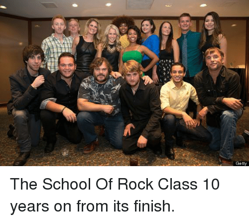School of Rock: Getty The School Of Rock Class 10 years on from its finish.