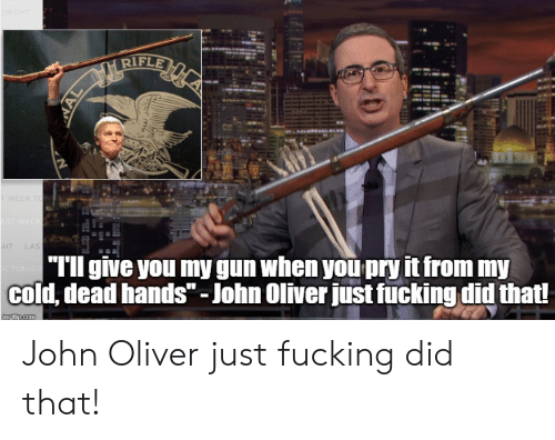 """cold-dead-hands: GHT  RIFLE  TWEEK TO  AST WEEK  HT  LAST  