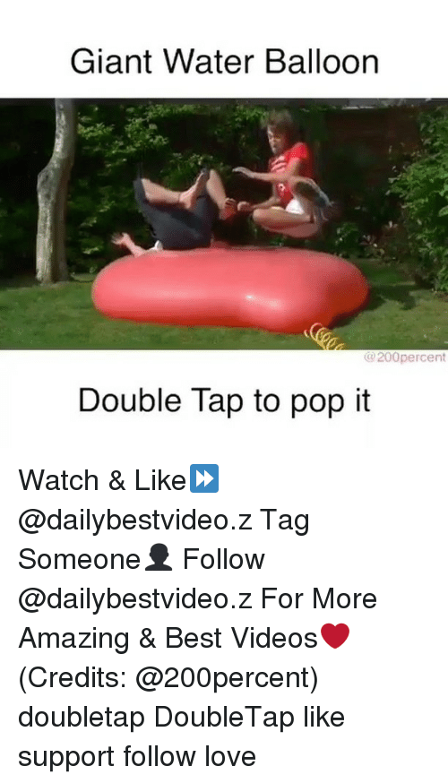 water balloons: Giant Water Balloon  @200 percent  Double Tap to pop it Watch & Like⏩ @dailybestvideo.z Tag Someone👤 Follow @dailybestvideo.z For More Amazing & Best Videos❤ (Credits: @200percent) doubletap DoubleTap like support follow love