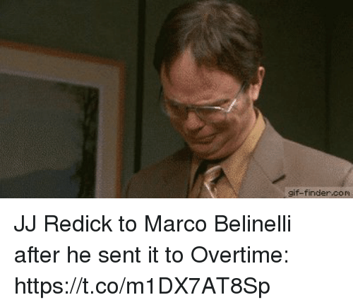 Gif, J.J. Redick, and Sports: gif-finder.com JJ Redick to Marco Belinelli after he sent it to Overtime: https://t.co/m1DX7AT8Sp