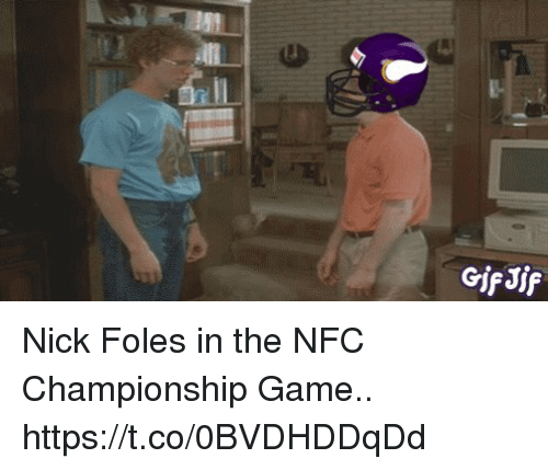 Football, NFC Championship Game, and Nfl: GifJif Nick Foles in the NFC Championship Game.. https://t.co/0BVDHDDqDd