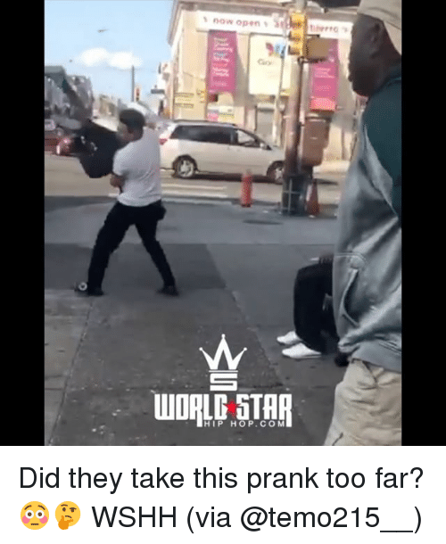 Memes, Prank, and Wshh: Gioy  HIP HOP.COM Did they take this prank too far? 😳🤔 WSHH (via @temo215__)
