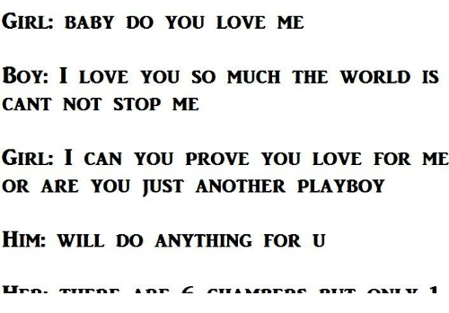 baby can you love me essay How to show your parents you love them three methods: spending quality time helping them out expressing your love community q&a your parents have done a lot for you over the years and you want to show them how thankful you are.