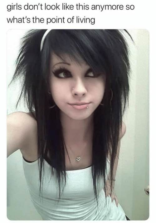 don't look: girls don't look like this anymore so  what's the point of living  5>