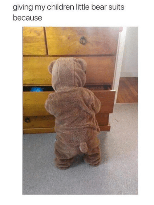 little bear: giving my children little bear suits  because