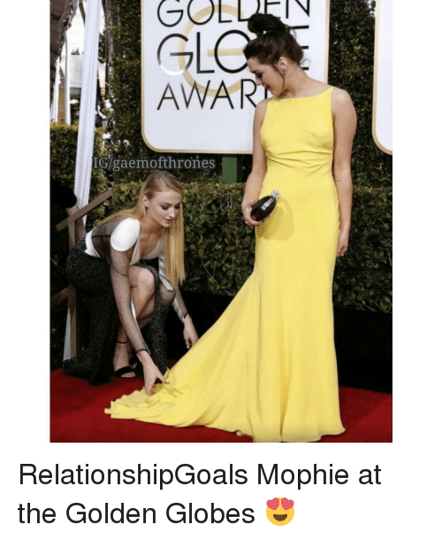 Golden Globes, Memes, and 🤖: GL  ANA  IGlgaemofthrones | RelationshipGoals Mophie at the Golden Globes 😍