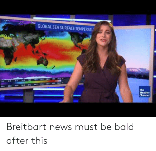 The Weather Channel: GLOBAL SEA SURFACE TEMPERATU  Te  The  Weather  Channel Breitbart news must be bald after this