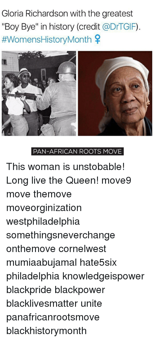 "boy bye: Gloria Richardson with the greatest  ""Boy Bye"" in history (credit  @DrTGIF)  #Womens History Month  PAN-AFRICAN ROOTS MOVE This woman is unstobable! Long live the Queen! move9 move themove moveorginization westphiladelphia somethingsneverchange onthemove cornelwest mumiaabujamal hate5six philadelphia knowledgeispower blackpride blackpower blacklivesmatter unite panafricanrootsmove blackhistorymonth"