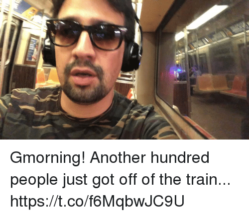 Memes, Train, and 🤖: Gmorning! Another hundred people just got off of the train... https://t.co/f6MqbwJC9U