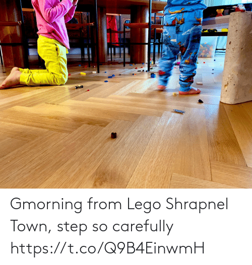 carefully: Gmorning from Lego Shrapnel Town, step so carefully https://t.co/Q9B4EinwmH