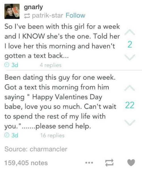 live dating advice wait text