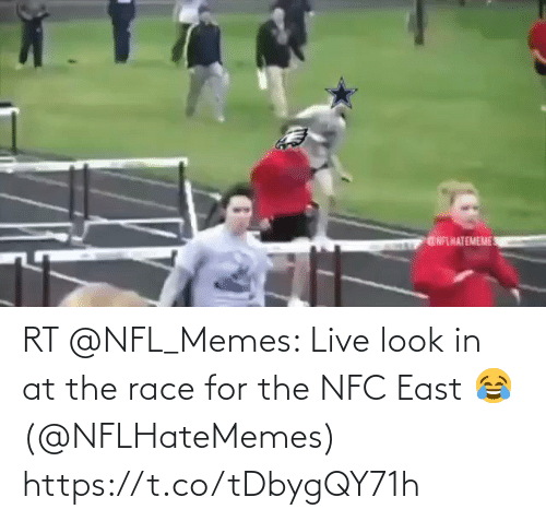 nfc east: GNFLHATEMEME RT @NFL_Memes: Live look in at the race for the NFC East 😂 (@NFLHateMemes) https://t.co/tDbygQY71h