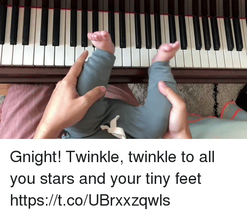 twinkle: Gnight! Twinkle, twinkle to all you stars and your tiny feet https://t.co/UBrxxzqwls