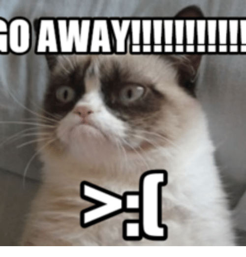 GO AWAY TS AS SIMPLE AS | Grumpy Cat No Go Away Meme on ME.ME Go Away Meme