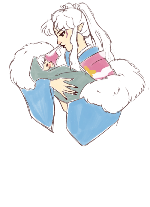 Me Now: gobodosama:this is a redraw…but hello yes new momma inukimi, just bury me now thanks!!!!!!!