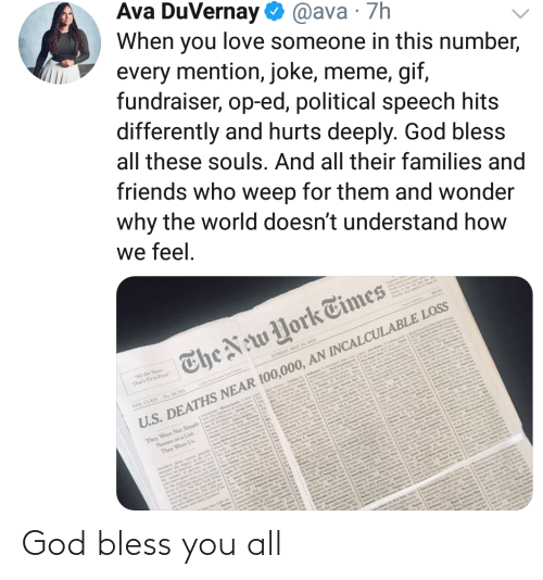 Bless You All: God bless you all