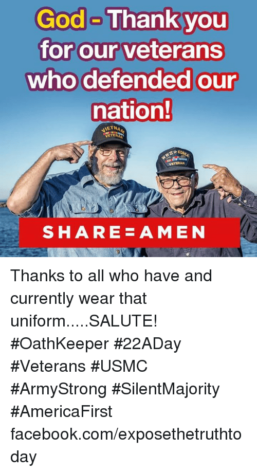 Thank You Veterans Funny Meme : God thank you for our veterans who defended nation